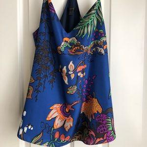Beautiful Silk Cami in Blue Print